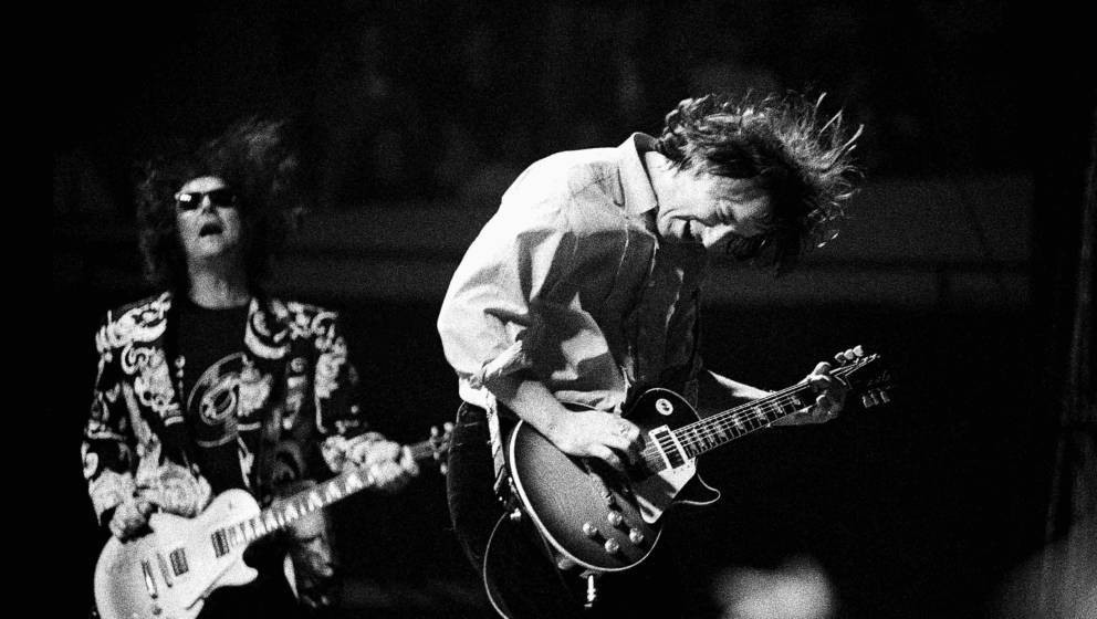 Atlanta - November 11: Peter Buck of R.E.M. performs at The Omni Coliseum in Atlanta, Ga. on November 11, 1995 (Photo By Rick