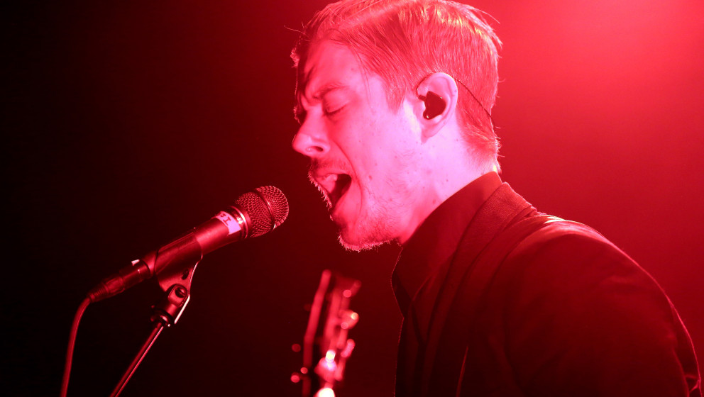BERLIN, GERMANY - JULY 01:  Singer Paul Banks of the band Interpol performs during a concert at Postbahnhof on July 1, 2014 i