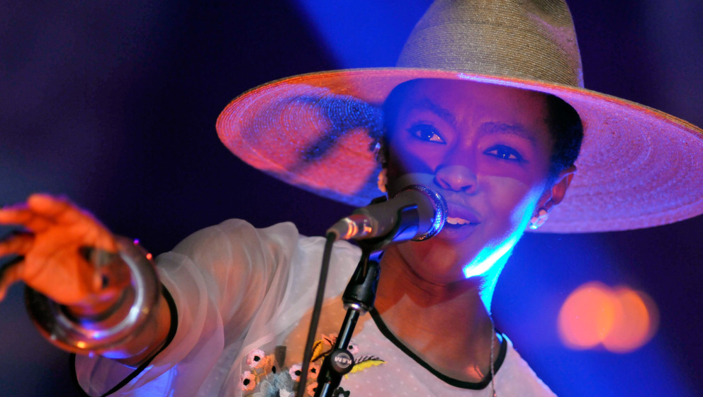 LOUISVILLE, KY - JULY 22:  Lauryn Hill performs in concert at Iroquois Amphitheater on July 22, 2014 in Louisville, Kentucky.