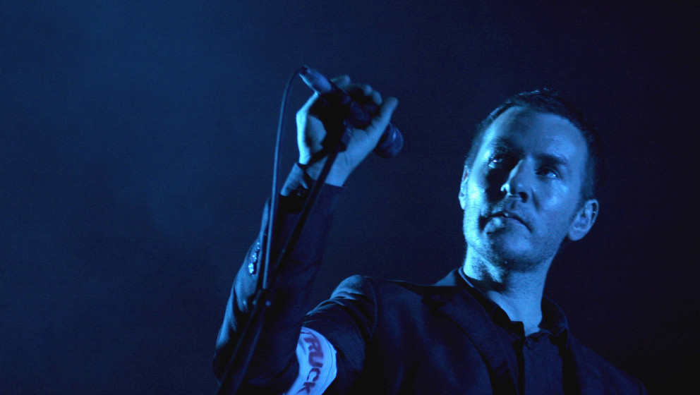 ROME - JULY 18:  Robert Del Naja of the band Massive Attack live in concert at the RomaRock Festival at Ippodromo delle Capan