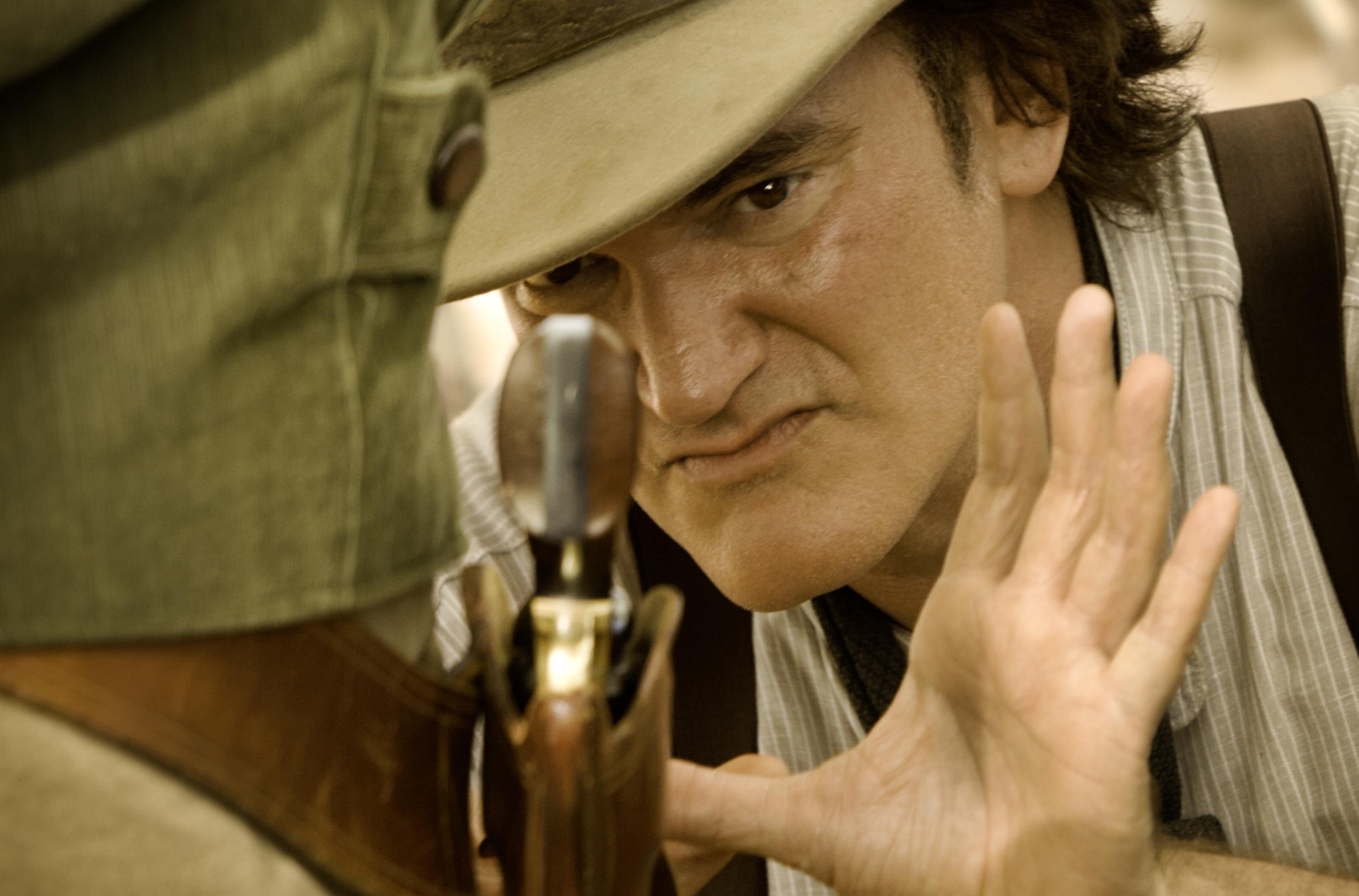 Director QUENTIN TARANTINO on the set of DJANGO UNCHAINED