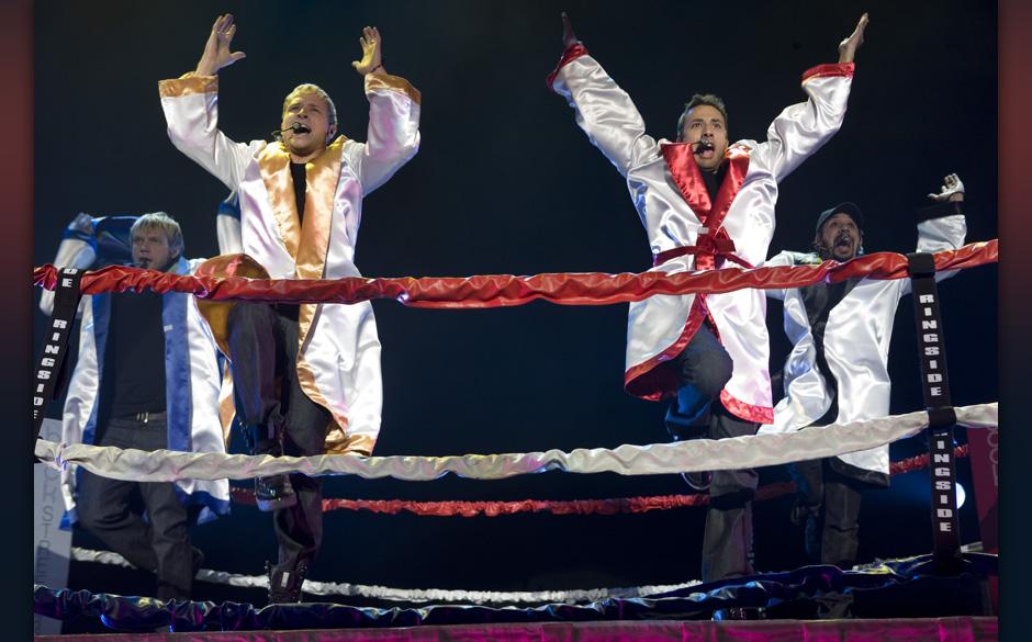 Hamburg, DEU, 09.04.2008: Backstreet Boys; amerikanische Pop-Boygroup, gegruendet 1993 in Florida; aktuelle Besetzung: Howie