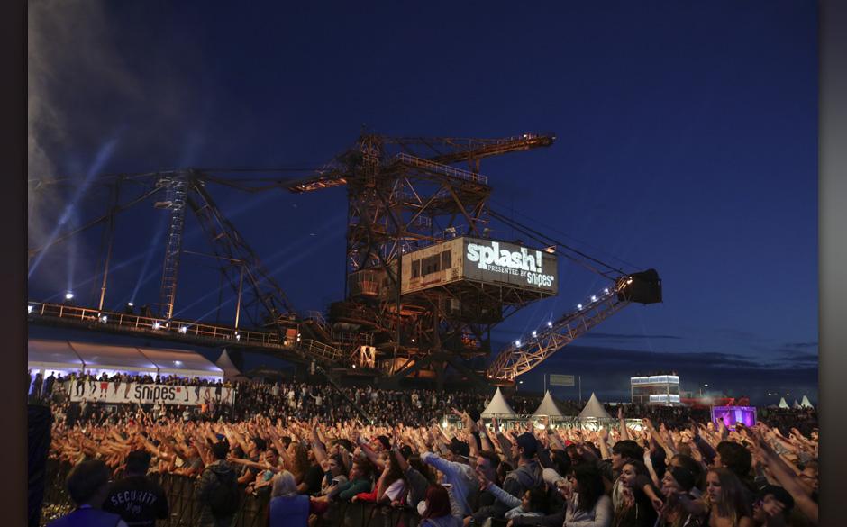 Publikum beim Splash! Festival 2014 auf der Halbinsel Ferropolis. Gr‰fenhainchen, 12.07.2013