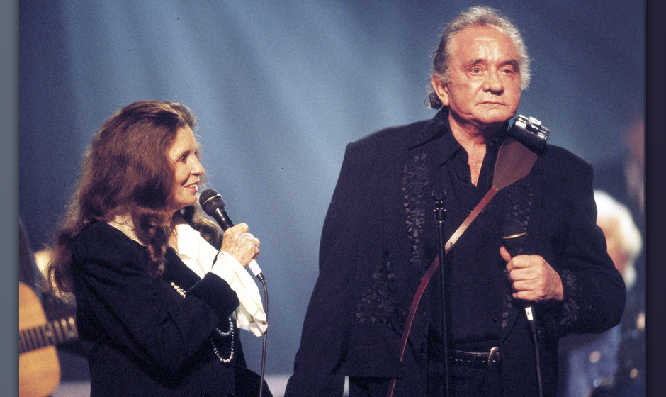 June Carter Cash and Johnny Cash during An All-Star Tribute to Johnny Cash at Hammerstein Ballroom in New York City, New York