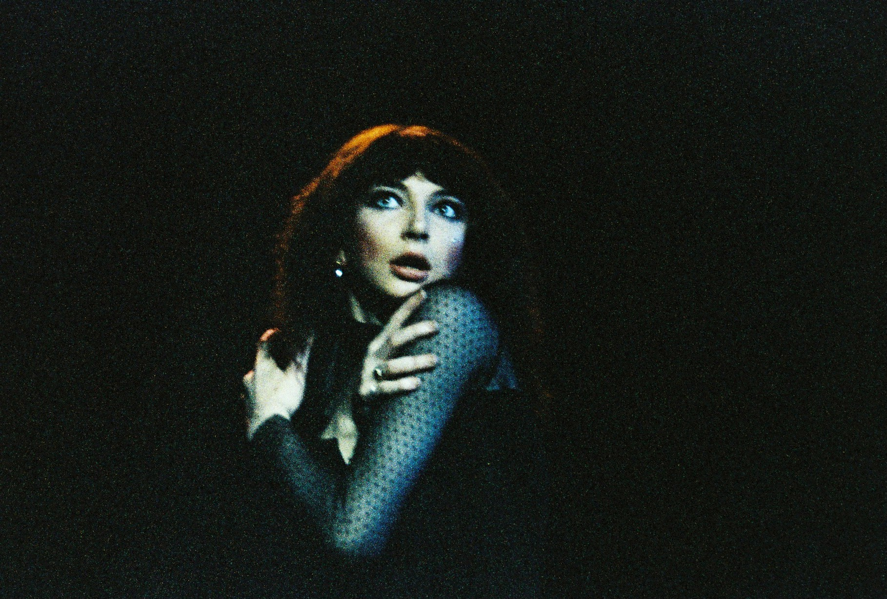 LONDON - 12th MAY: English singer Kate Bush performs live on stage at Hammersmith Odeon in London on the penultimate date of