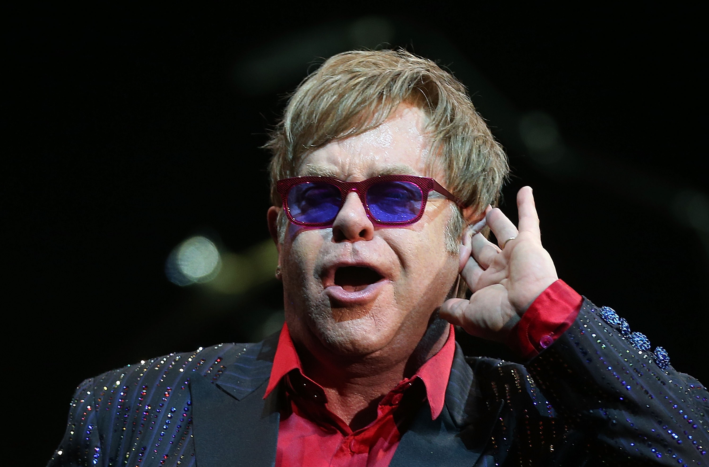 SYDNEY, AUSTRALIA - NOVEMBER 15:  Elton John performs for fans at the Sydney Entertainment Centre on November 15, 2012 in Syd