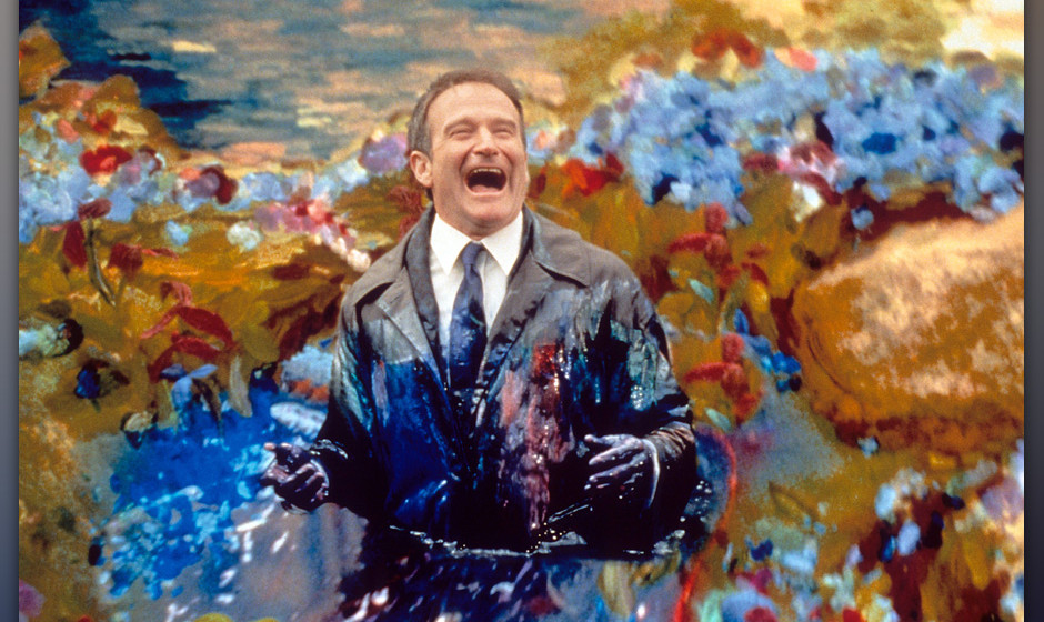 Robin Williams is covered in paint in a scene from the film 'What Dreams May Come', 1998. (Photo by Polygram Filmed Entertain
