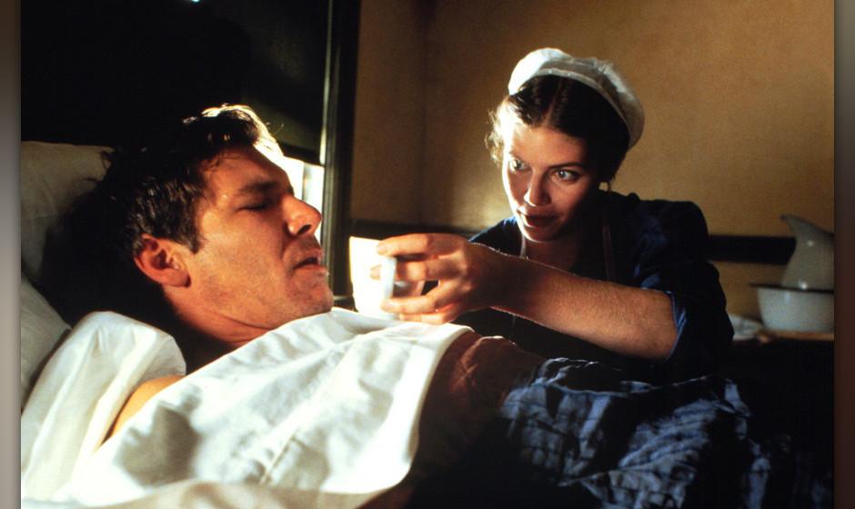 Der einzige Zeuge (Witness, USA 1985, Regie: Peter Weir) Harrison Ford, Kelly McGillis / Mann krank in Bett, Amish-Frau pfleg