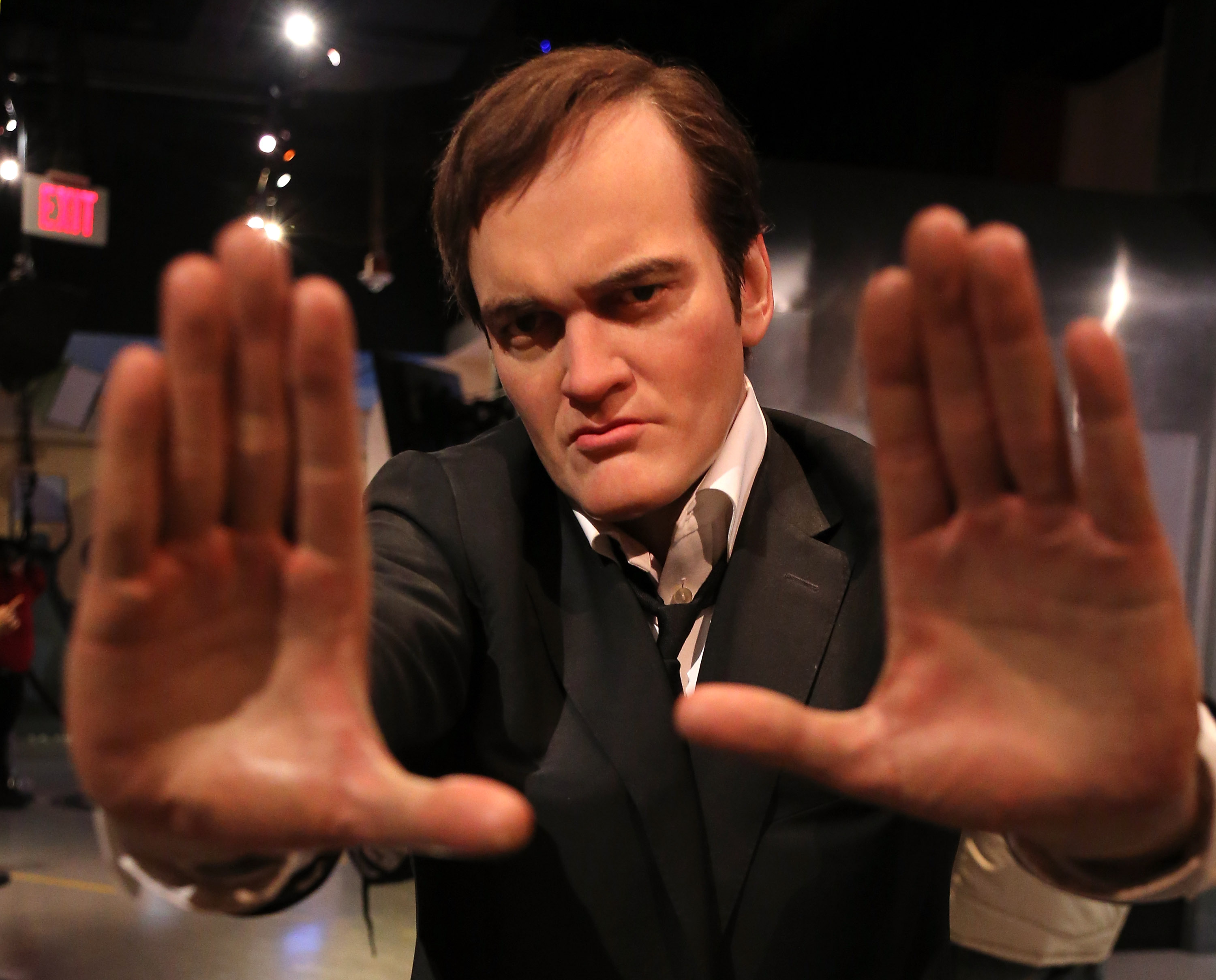 HOLLYWOOD, CA - JANUARY 06:  A wax figure of director Quentin Tarantino is displayed at Madame Tussauds on January 6, 2014 in