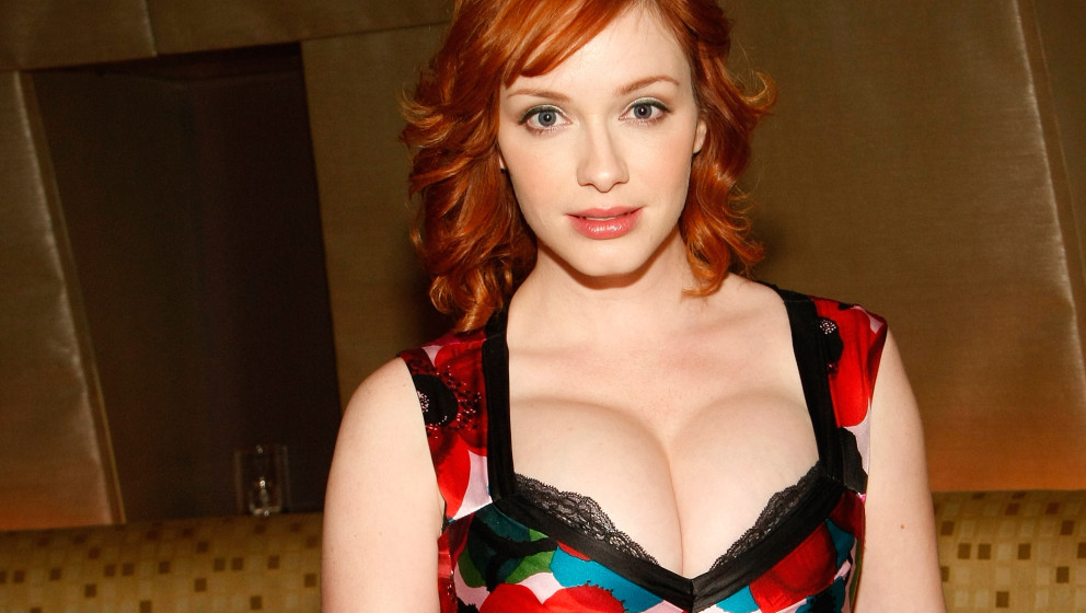 LAS VEGAS - JANUARY 27:  ***EXCLUSIVE*** Actress Christina Hendricks appears at the Tabu Ultra Lounge at the MGM Grand Hotel/