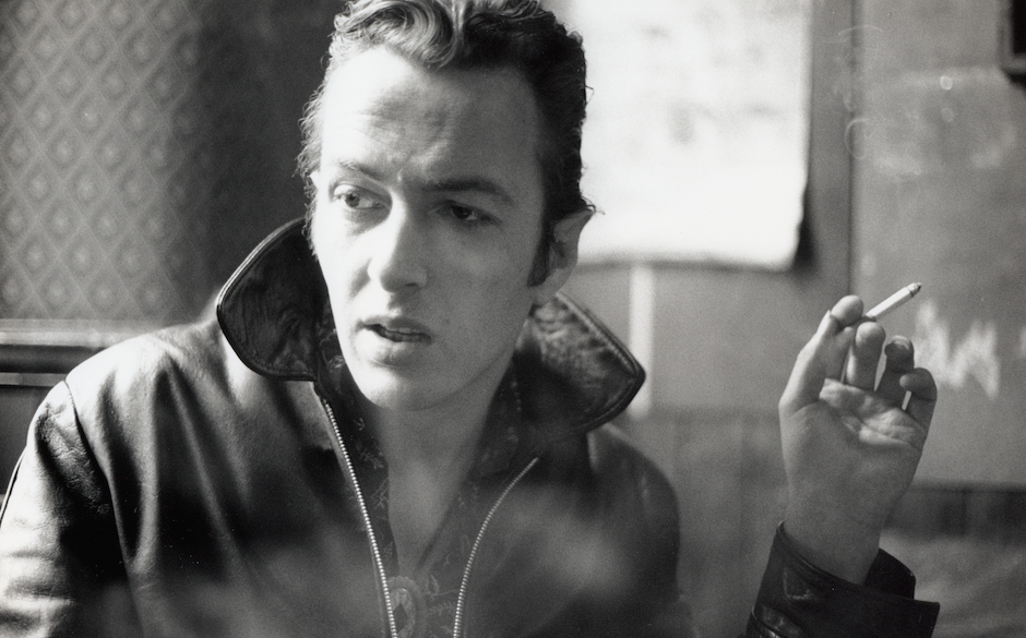 Portrait of Joe Strummer formerly of The Clash photographed in London in February 1988. 24203 - Exclusive  (Photo by Joe Dilw