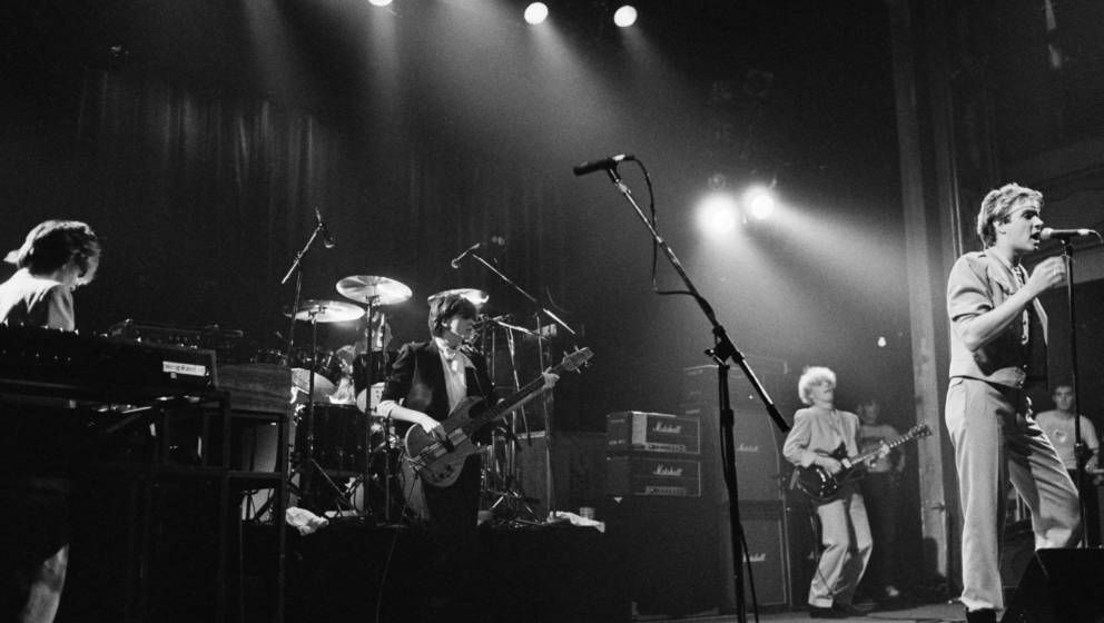 Duran Duran perform on stage, New York, 1981. (Photo by Michael Putland/Getty Images)