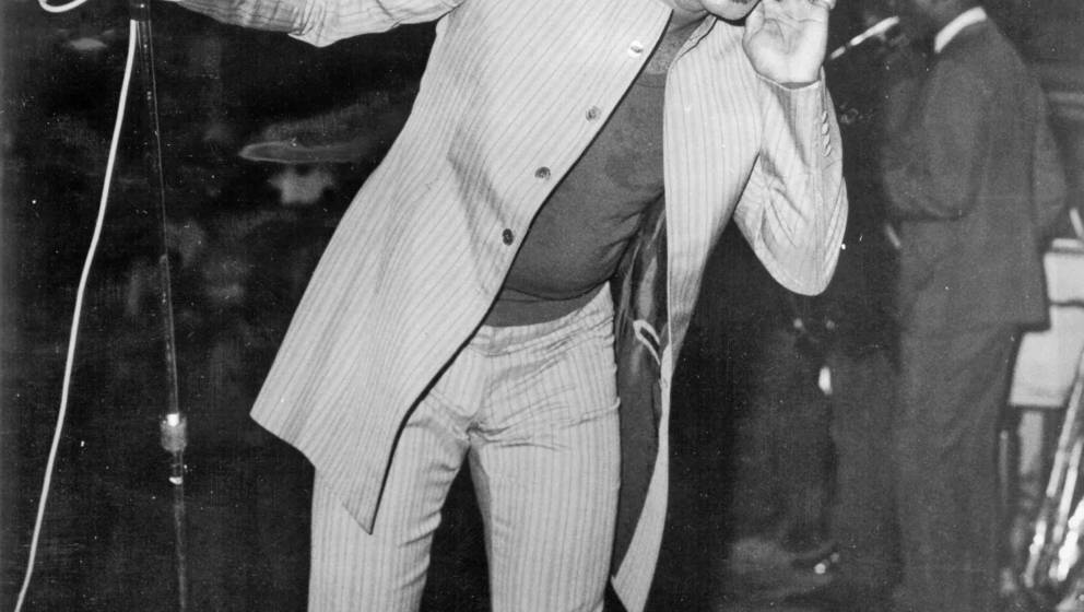 CIRCA 1965: 'Godfather of Soul' James Brown performs onstage in circa 1965. (Photo by Michael Ochs Archives/Getty Images)
