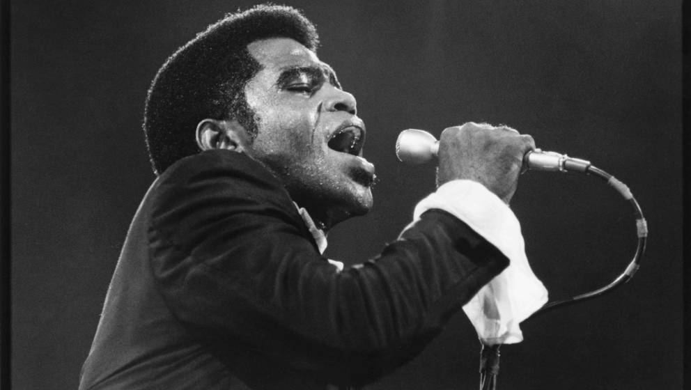 NEW YORK - UNDATED:  James Brown performs at Madison Square Garden circa 1960's in New York City, New York.  (Photo by Walter