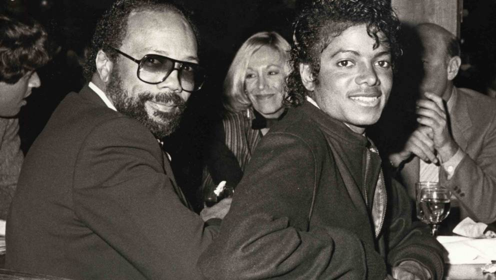 Quincy Jones and Michael Jackson at the Whomphopper's Restaurant in Los Angeles, California (Photo by Ron Galella/WireImage)