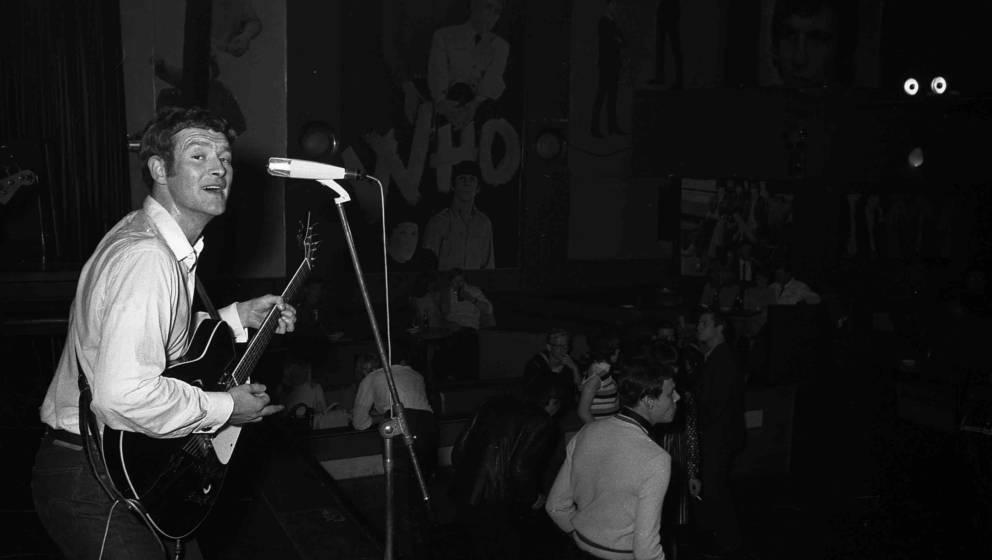 HAMBURG, GERMANY - circa 1965: English singer and guitarist Tony Sheridan (1940-2013) performs live on stage in Hamburg, Germ