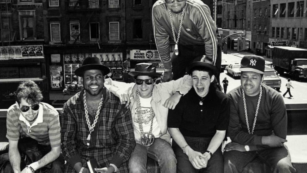 Adam Yauch (MCA), Adam Horovitz (Ad-Rock) and Mike Diamond (Mike D) of the Beastie Boys with Jason Mizell, Darryl McDaniels a