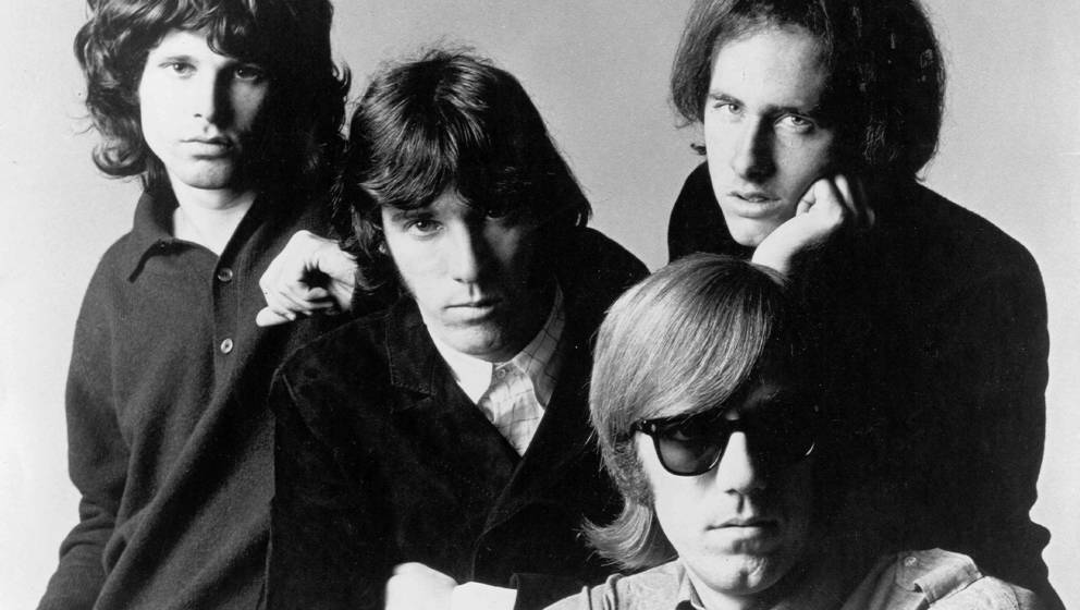 LOS ANGELES, CA - CIRCA 1966:  Rock group 'The Doors' pose for a promotional photos circa 1966.  Left to right - Jim Morrison