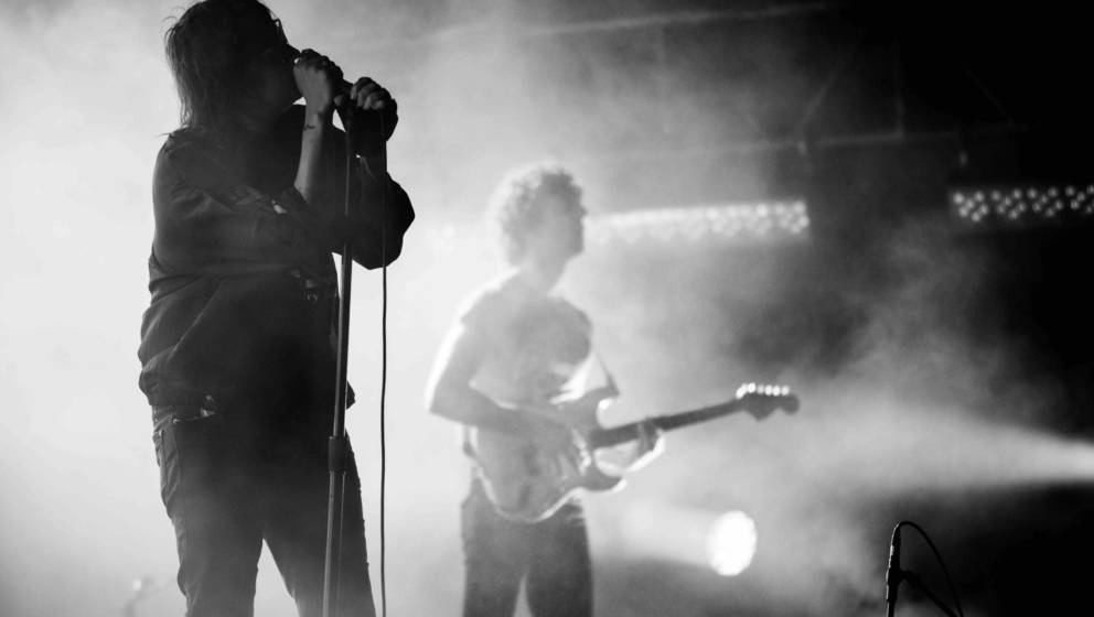 SAO PAULO, BRAZIL - MARCH 26: (EDITORS NOTE: image was converted to black and white, color version available) Julian Casablan