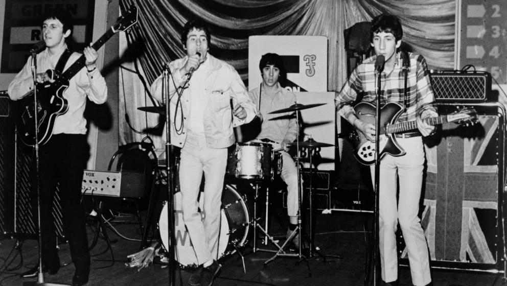 The Who, Shepherds Bush Bingo Hall, London, England, 1964. Left to Right John Entwistle, Roger Daltry, Keith Moon, Pete Towns