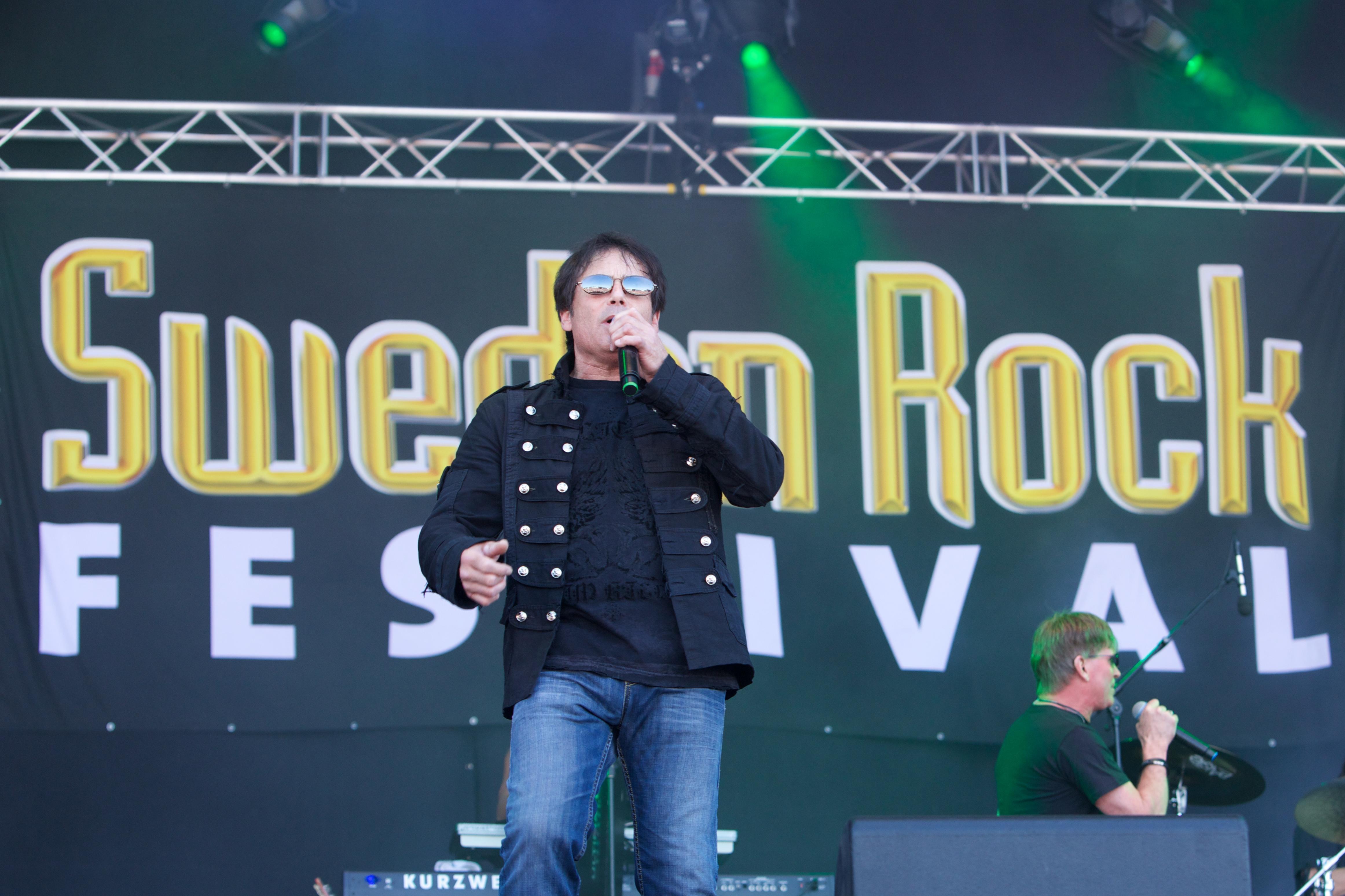 SOLVESBORG, SWEDEN - JUNE 06: Jimi Jamison of Survivor performs on stage on Day 2 of Sweden Rock Festival 2013 on June 6, 201