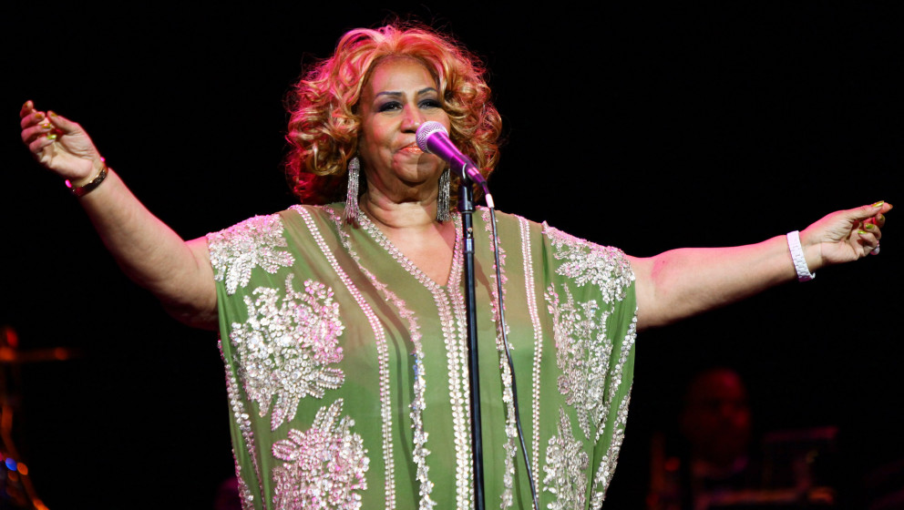 NEW YORK, NY - FEBRUARY 18:  Aretha Franklin performs at Radio City Music Hall on February 18, 2012 in New York City.  (Photo