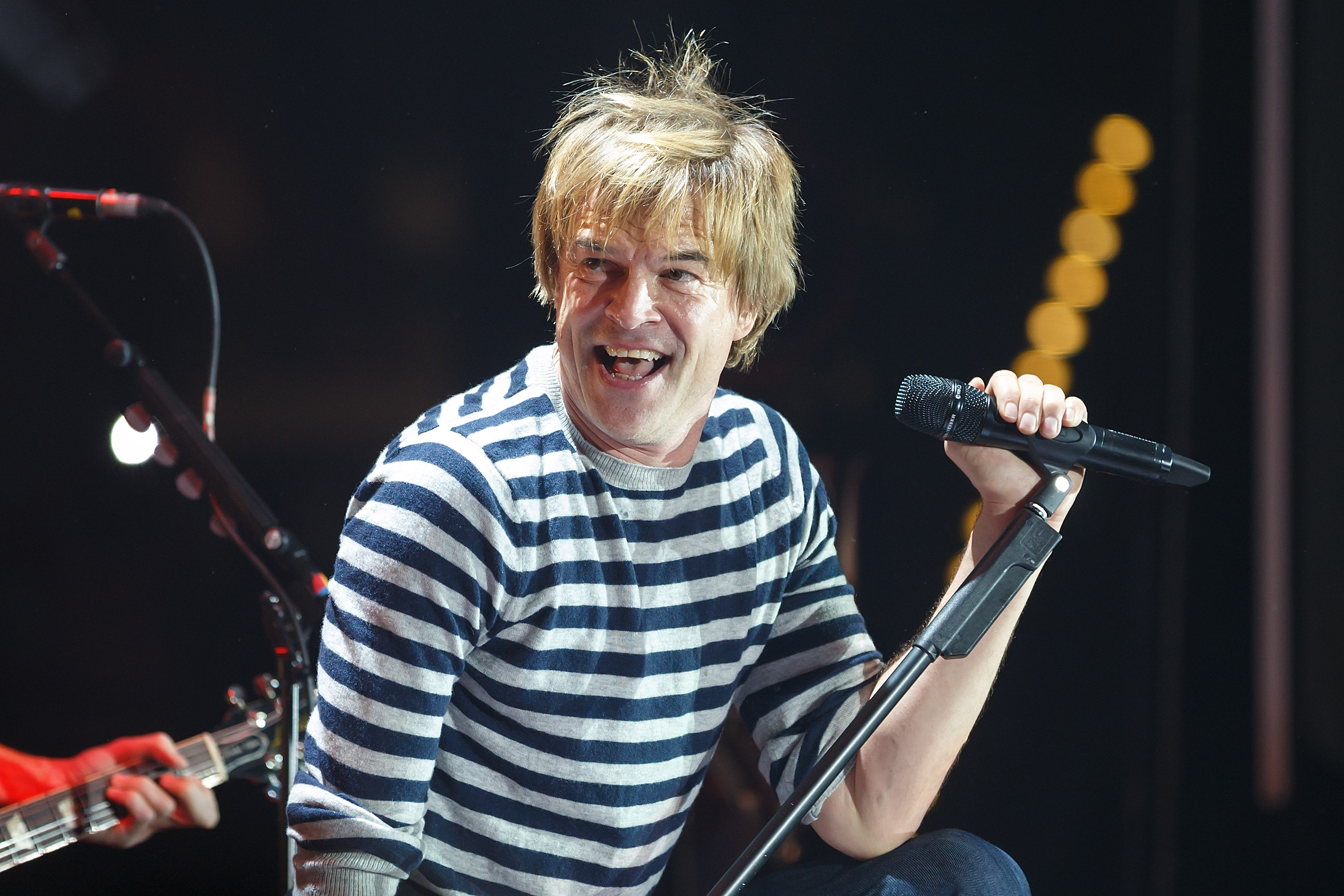 LEIPZIG, GERMANY - NOVEMBER 13: Singer Campino of the German punk band Die Toten Hosen performs live at the Arena on November