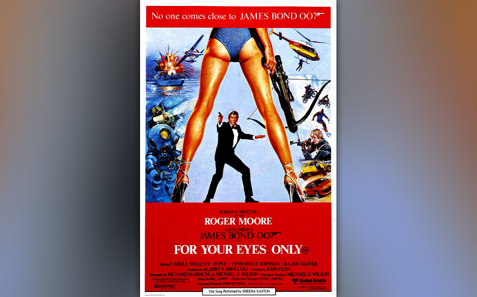 16. Sheena Easton: 'For Your Eyes Only'. 1981 verschuldete Bill Conti den ersten richtig schlechten Bond-Song. Was Sheena Eas
