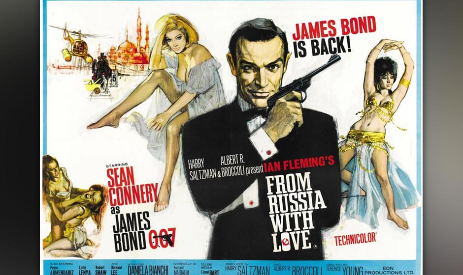 10. Matt Monro: 'From Russia With Love'. Der auch zu seiner Zeit, 1963, schon altmodische Bond-Song setzt auf den Crooner-Eff