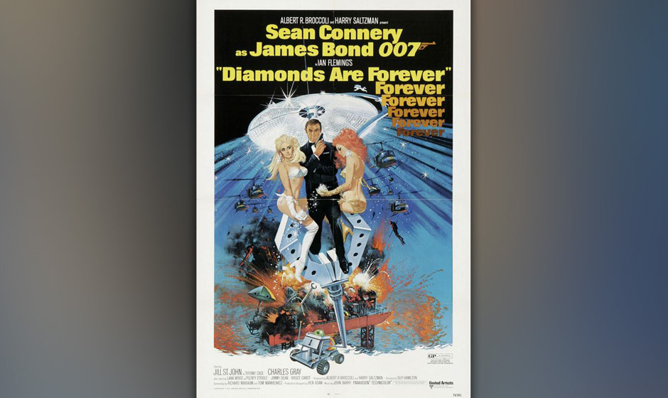9. Shirley Bassey: 'Diamonds Are Forever'. Die perfekte Balance zwischen Liebe (zu Diamanten, die einem treuer sind als Männ