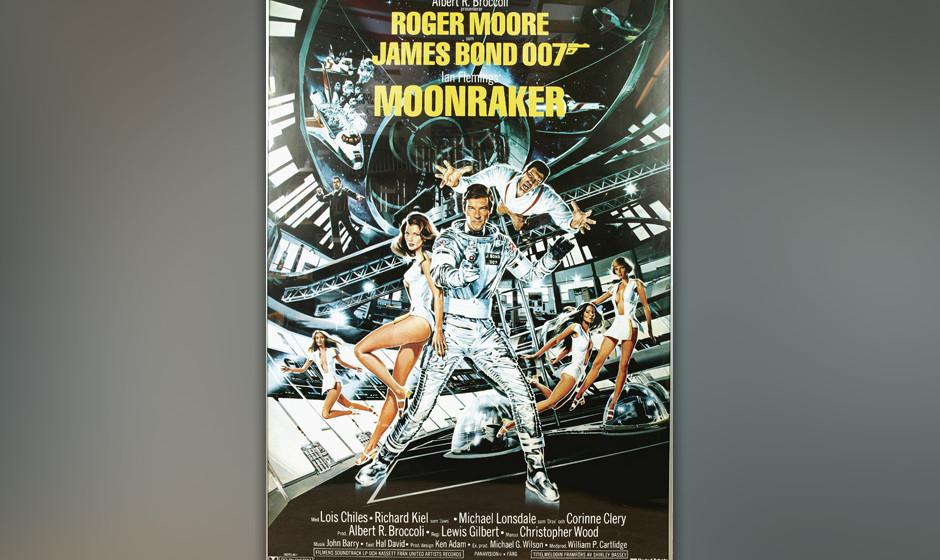 8. Shirley Bassey: 'Moonraker'. Der dritte Einsatz von Shirley Bassey für Bond arbeitet weniger mit ihrer sonst demonstrativ