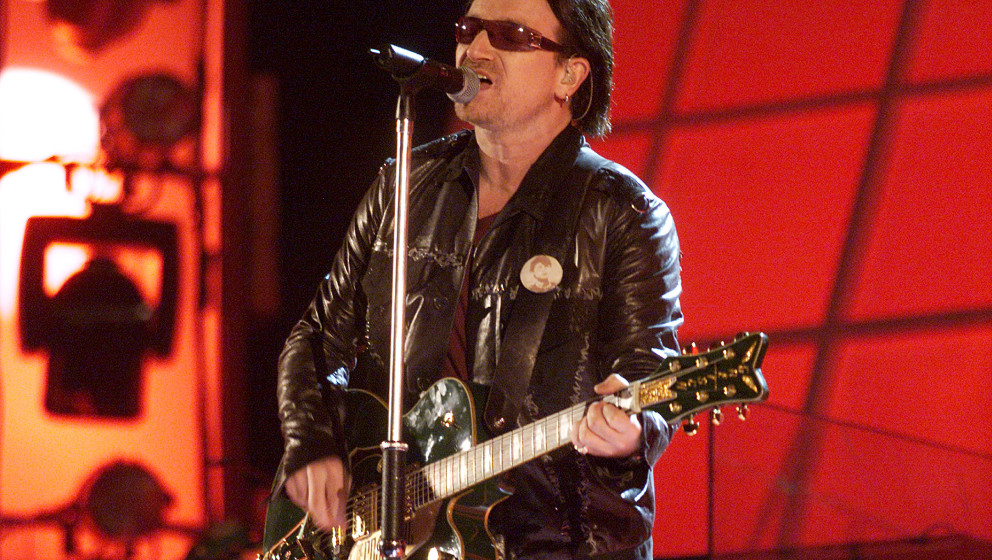U2 performing at the 44th Annual Grammy Awards at the Staples Center in Los Angeles, CA. 2/27/2002  (photo by Frank Micelotta