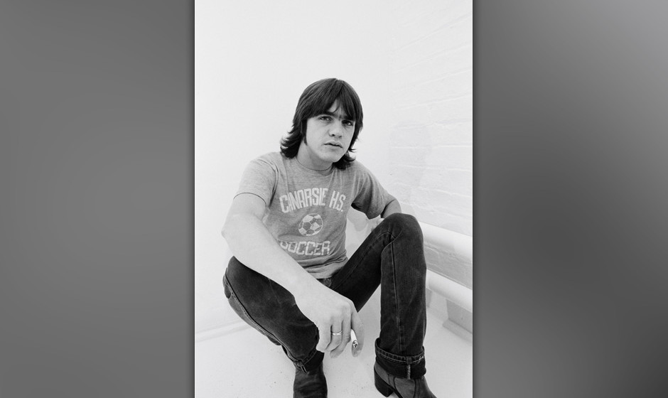LONDON -  1st AUGUST: Rhythm guitarist Malcolm Young from Australian rock band AC/DC posed in a studio in London in August 19