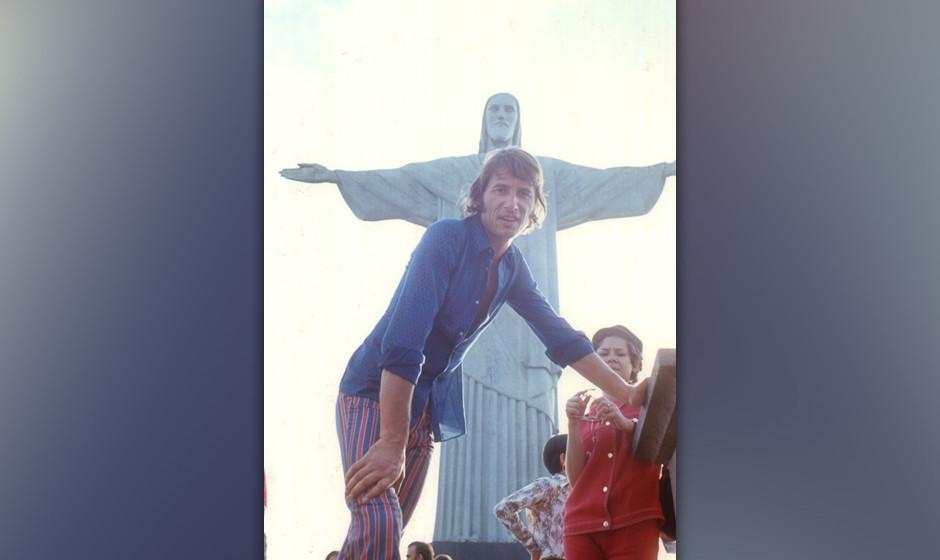Udo Jürgens, Urlaub, Rio de Janeiro/Brasilien/Südamerika, 01.08.1971, Christusstatue, Cocovardo, Sänger, Promis, Prominent
