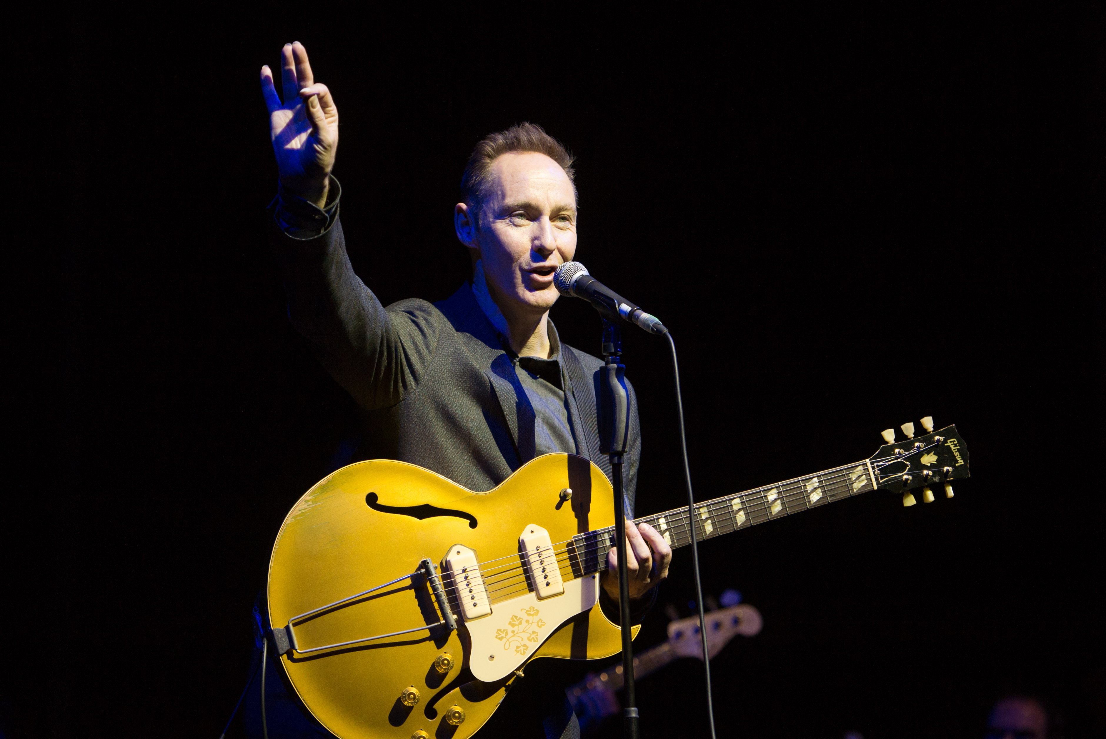 LONDON, ENGLAND - DECEMBER 1: Roddy Frame performs live on stage at the Theatre Royal on December 1, 2013 in London, England.
