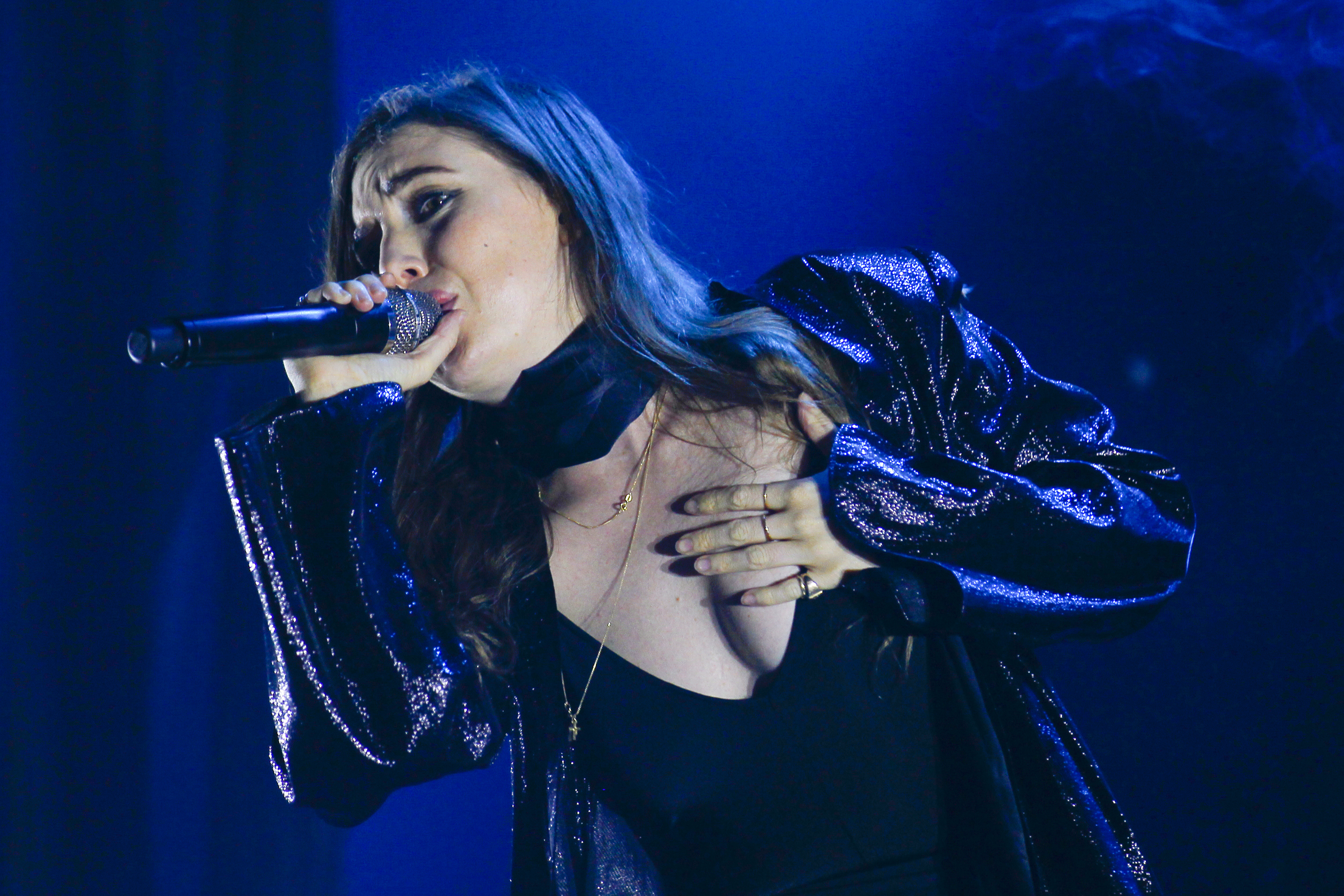MONTREAL, QC - AUGUST 03:  Lykke Li performs on Day 3 of the Osheaga Music and Art Festival on August 3, 2014 in Montreal, Ca
