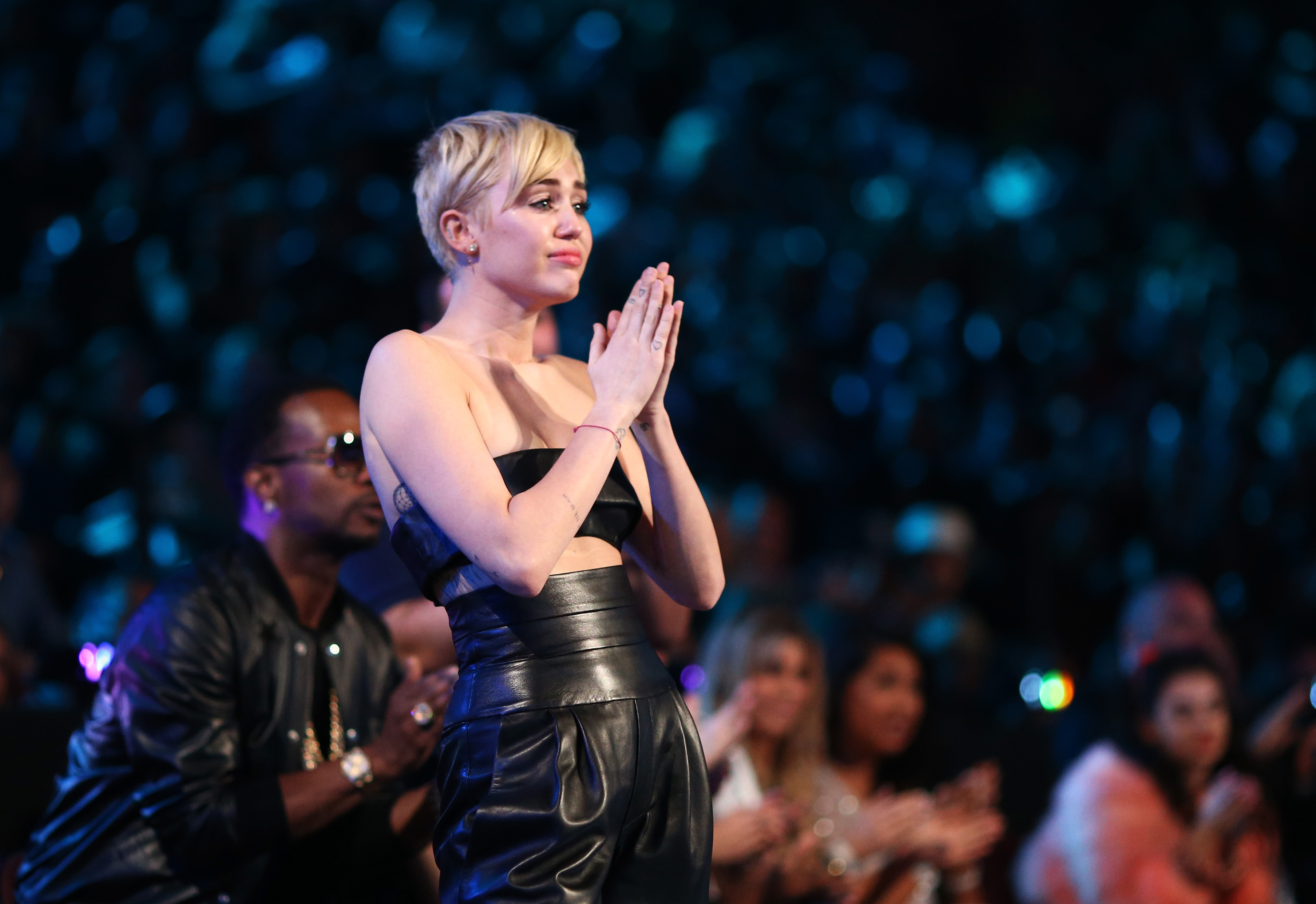 INGLEWOOD, CA - AUGUST 24:  Singer Miley Cyrus attends the 2014 MTV Video Music Awards at The Forum on August 24, 2014 in Ing