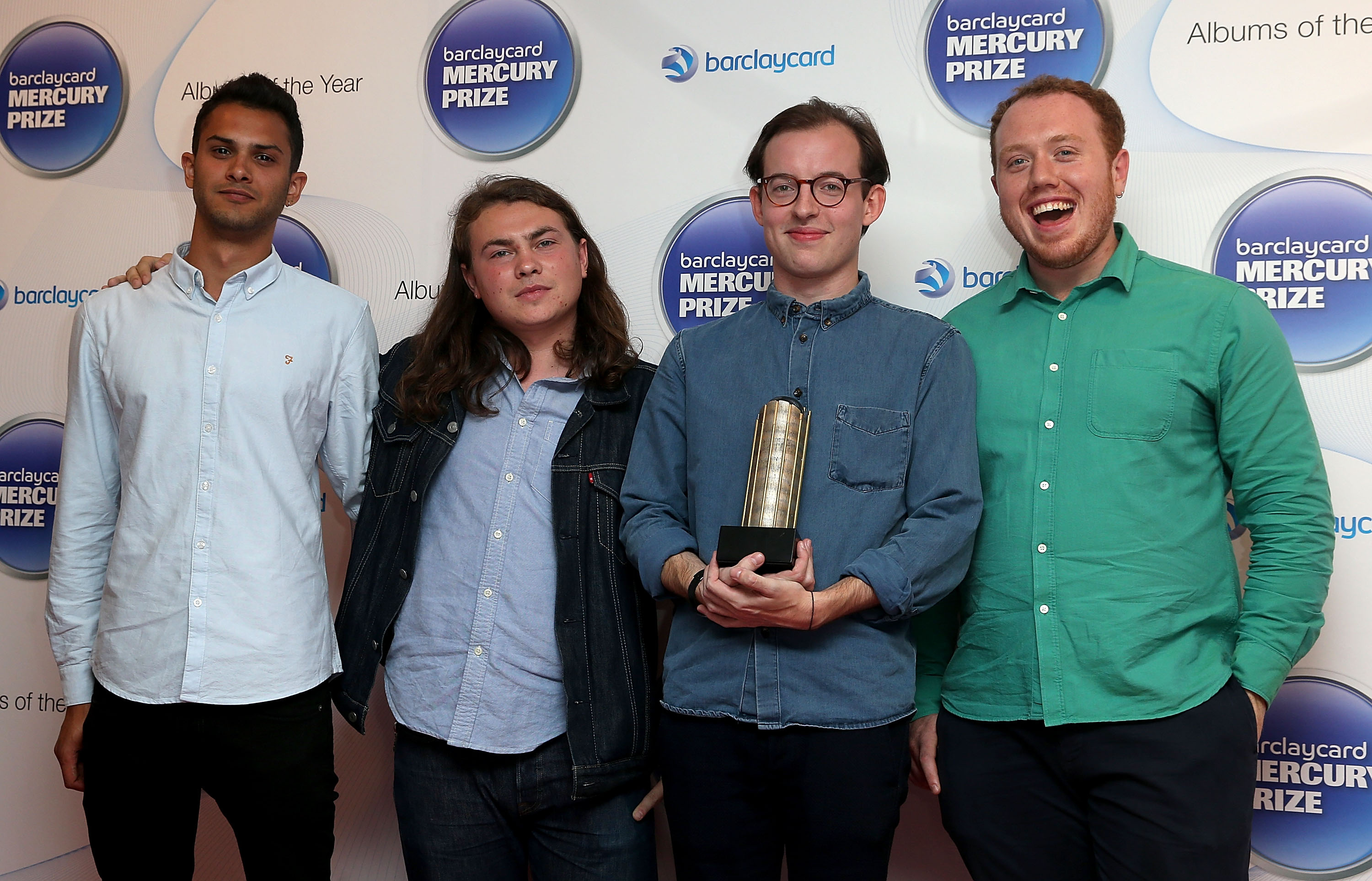 LONDON, ENGLAND - SEPTEMBER 10:  Jack Steadman, Jamie MacColl, Suren de Saram and Ed Nash of Bombay Bicycle Club attend the B