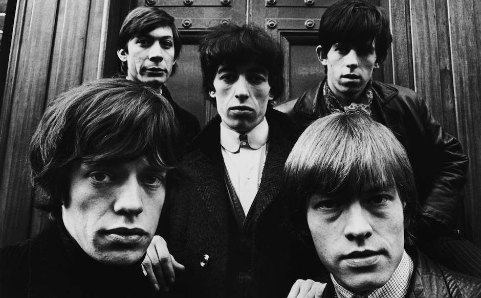 The Rolling Stones outside St. George's Church in Hanover Square, London, 17th January 1964. Clockwise from bottom left: Mick