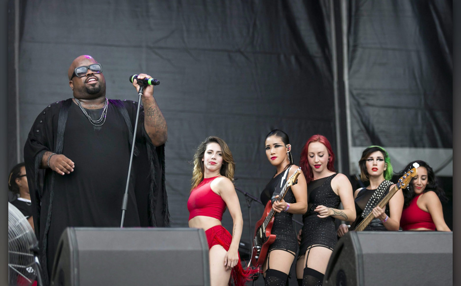 epa04356249 US singer CeeLo Green performs during his concert at the 22nd Sziget (Island) Festival on the Shipyard Island in