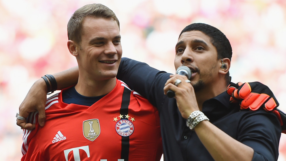 MUNICH, GERMANY - AUGUST 09:  Andreas Bourani performs during the FC Bayern Muenchen Season Opening event at Allianz Arena on