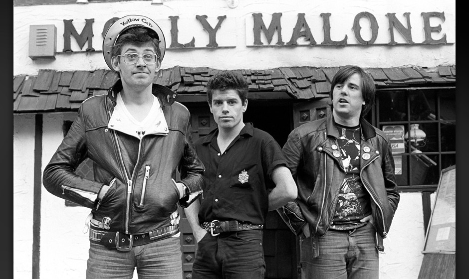 Stiff Little Fingers photographed at Molly Malone in New York City on November 1, 1980.