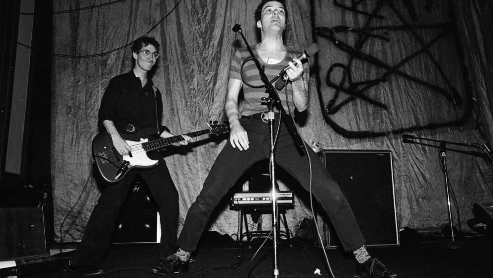 SAN FRANCISCO - 1978:  L-R Klaus Fluoride and Jello Biafra of The Dead Kennedys perform live at The People's Temple in 1978 i