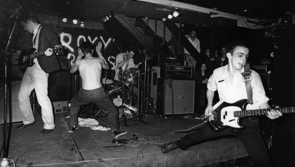 UNITED KINGDOM - JANUARY 01:  ROXY CLUB  Photo of Jimmy PURSEY and SHAM 69 and Dave PARSON and Rick GOLDSTEIN, L-R. Dave Pars