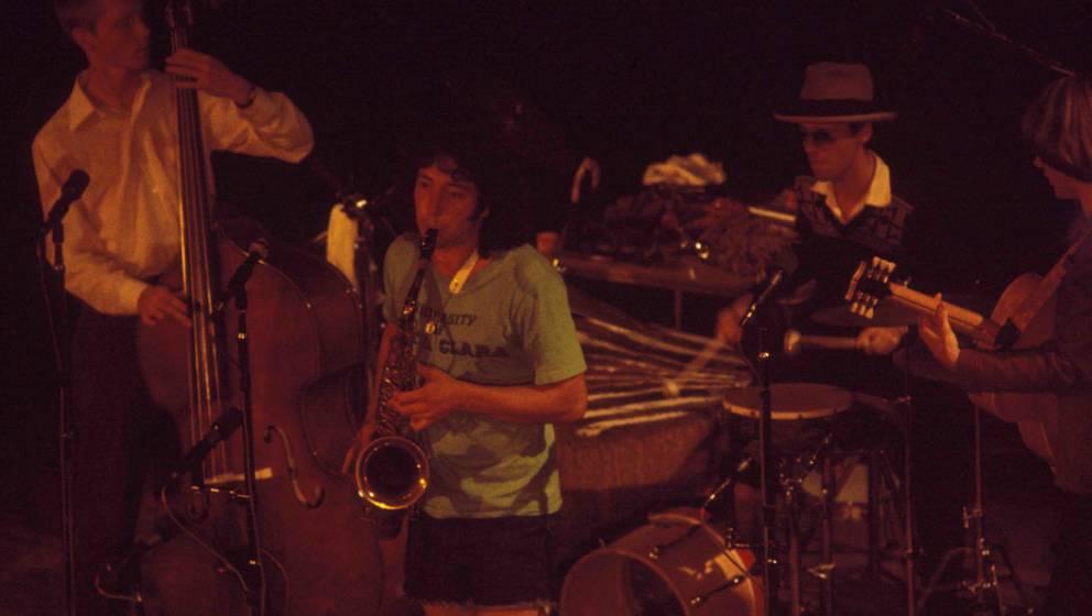 NEW YORK - JANUARY 1: (L-R) Greg 'Curly' Keranen, saxophonist Jonathan Richman, drummer David Robinson and guitarist Leroy Ra