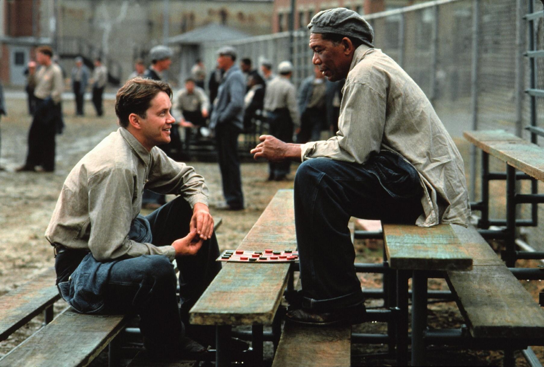 Die Verurteilten (The Shawshank Redemption, USA 1994, Regie: Frank Darabont) Tim Robbins, Morgan Freeman / Strafgefangene, H�