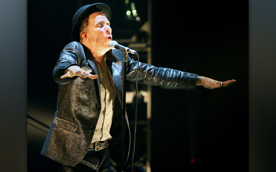 BIRMINGHAM, AL - JULY 03: Musician Tom Waits performs as part of the 'Glitter And Doom' tour at the Alabama Theatre on July 3