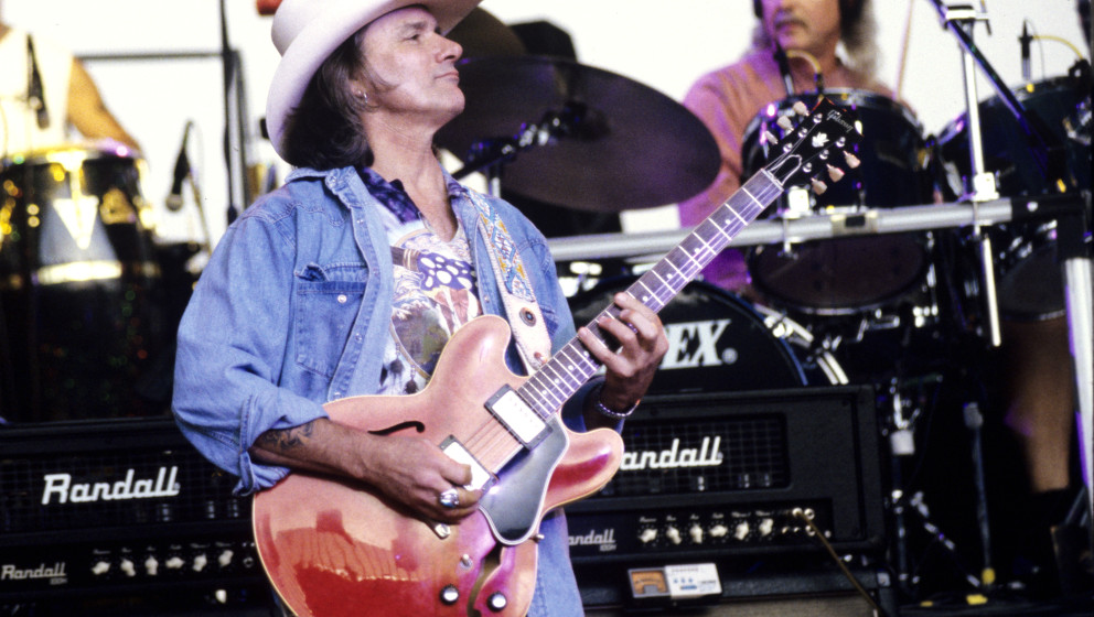 MOUNTAIN VIEW, CA - JULY 1: Dicky Betts of The Allman Brothers Band performs at Shoreline Amphitheatre on July 1, 1995 in Mou