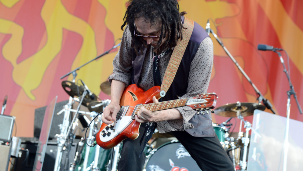 NEW ORLEANS, LA - APRIL 28: Mike Campbell performs during the 2012 New Orleans Jazz & Heritage Festival at the Fair Groun