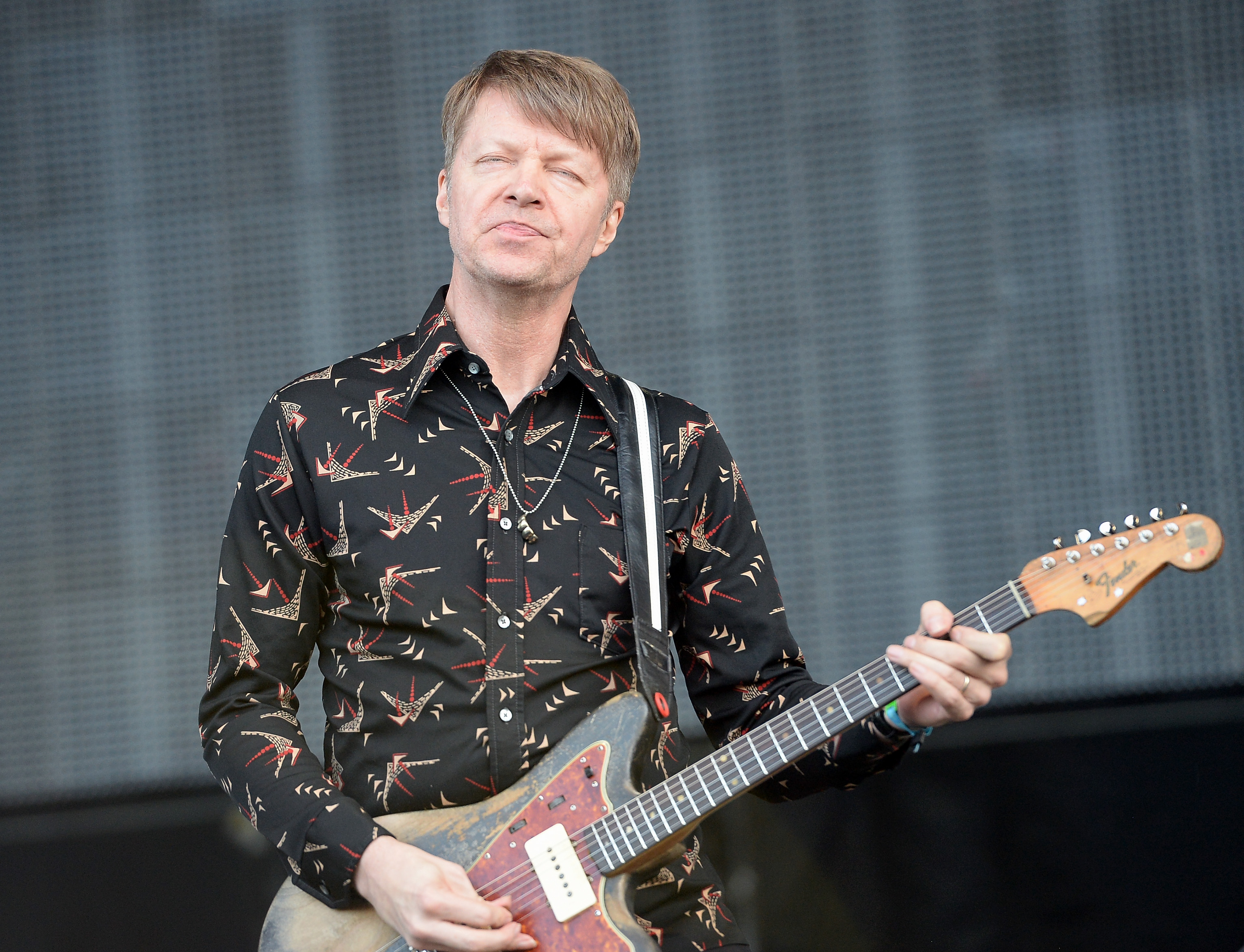 MANCHESTER, TN - JUNE 14:  Nels Cline of Wilco performs onstage at What Stage during day 2 of the 2013 Bonnaroo Music & A